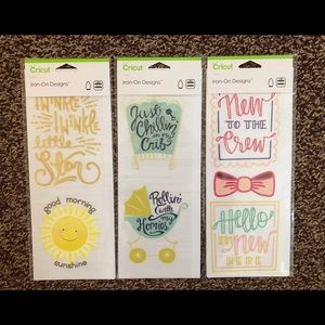 Cricut Baby Iron-On Designs Bundle Brand New!